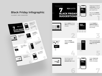 Black Friday Infographic black and white tricks tips poster infographic black friday friday black