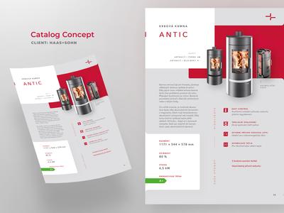 Catalog Concept flyer stoves haas sohn concept catalog print