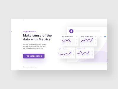 Metrics Teaser simple b2b saas platform app metrics product design uxui