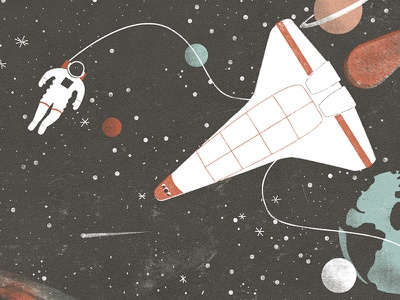 · exploring the space · drawing digital art exploring the space stars astronaut space illustration