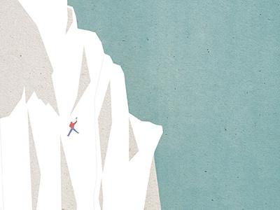 ·Alaska· blue sky sky climbing a mountain illustrating the nature illustration snow