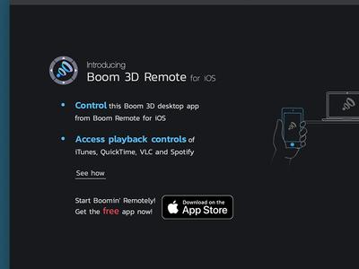 Boom 3D app Remote
