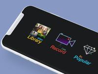 Vizmato home screen concept