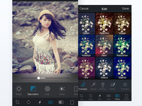 Photo editing screen