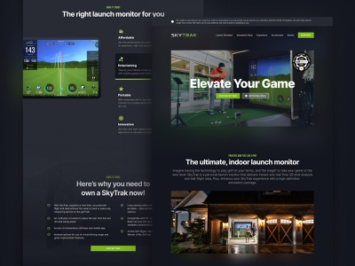 Golf Simulation Product Detail Page detail product landing sports sport golfing golf club golf