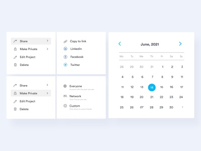 Dropdown and Date Picker UI Components date picker component ui ui dropdown ui components component datepicker date dropdown