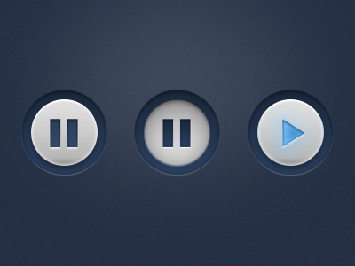 Pause and play button (PSD Freebie) free psd play pause button