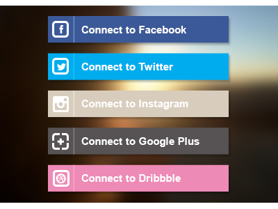 Connect to... (Free PSD) facebook instagram google plus dribbble psd free freebie icon social clean twitter