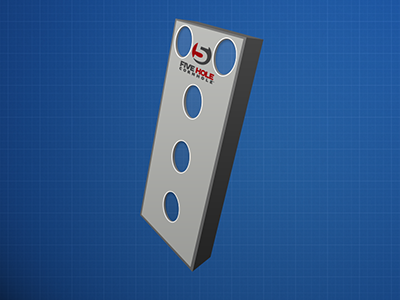 5 Hole Cornhole Board