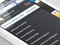 Zaarly redesign flyout menu