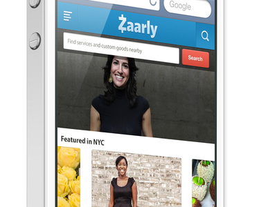 Zaarly responsive homepage design