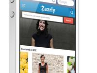Zaarly responsive homepage design