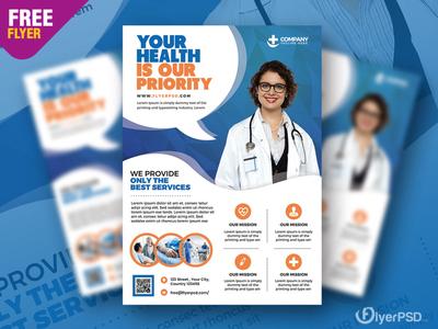 Health and Hospital Business Flyer PSD