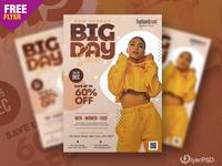 Big Day Sale Flyer PSD Template creative design graphic design flyer psd free sale sale flyer photoshop free flyer psd flyer psd free free psd flyer psd flyer