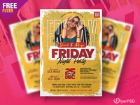 Ladies Friday Party Flyer PSD Template design creative night party party flyer template photoshop free flyer psd flyer psd free free psd flyer psd flyer