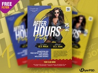 After Hours Party Flyer PSD party flyer template photoshop free flyer psd flyer psd free free psd flyer psd flyer