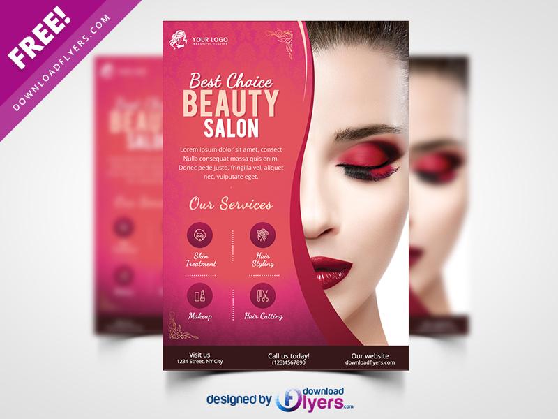 Beauty Salon Flyer Template Free Psd By Flyer Psd On Dribbble