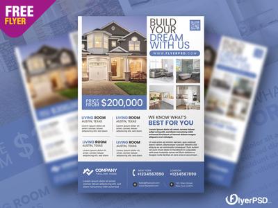 Real Estate Promotion Flyer PSD real estate template psd free psd freepsd freebie free flyer psd flyer