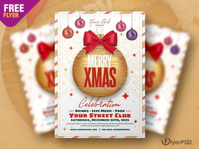 Christmas Club Event Flyer PSD