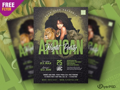 African Night Party Flyer PSD photoshop club flyer partyflyer night party free flyer party flyer free freepsd psd flyer free psd flyer psd flyer