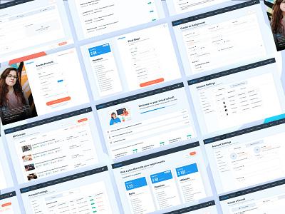 Landing page design| EdTech website visualinterface e-learning education edutech uidesign uxdesign landingpage productdesign webdesign