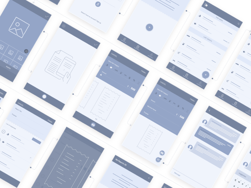 Mobile Wireframes android experience expense management tool mobile ux mobile wireframes