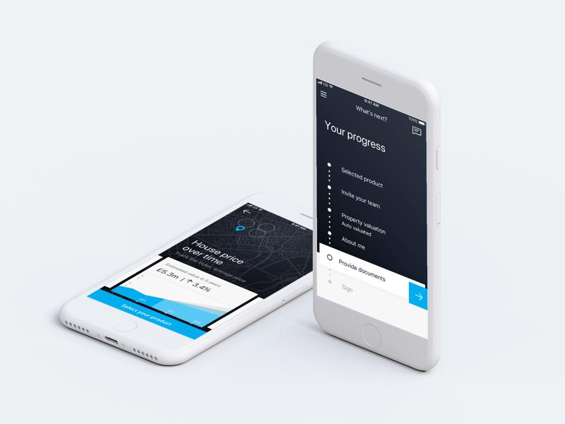 Mobile Banking Concept progress bar experience step navigation mobile banking mobile ux