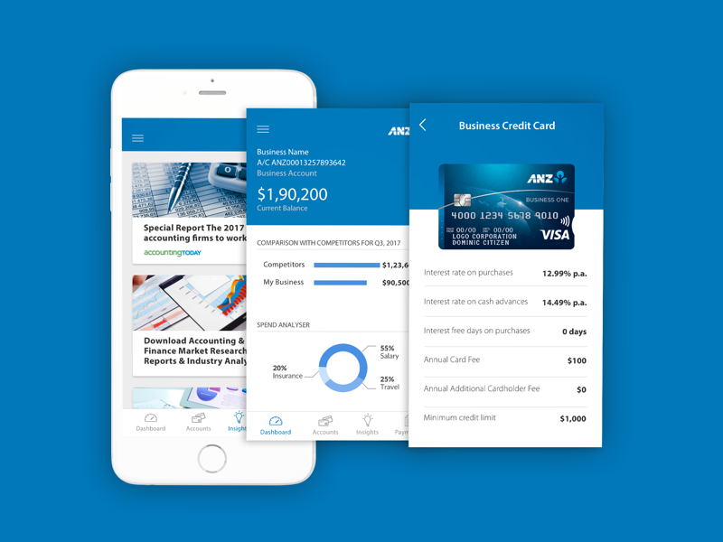 ANZ Digital Bank Experience ios design mobile us fin-tech banking ux