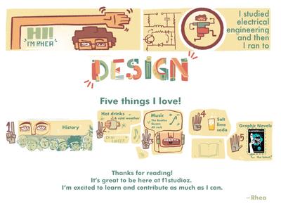 Rhea's Visual Profile designer profile storytelling visualization visual design