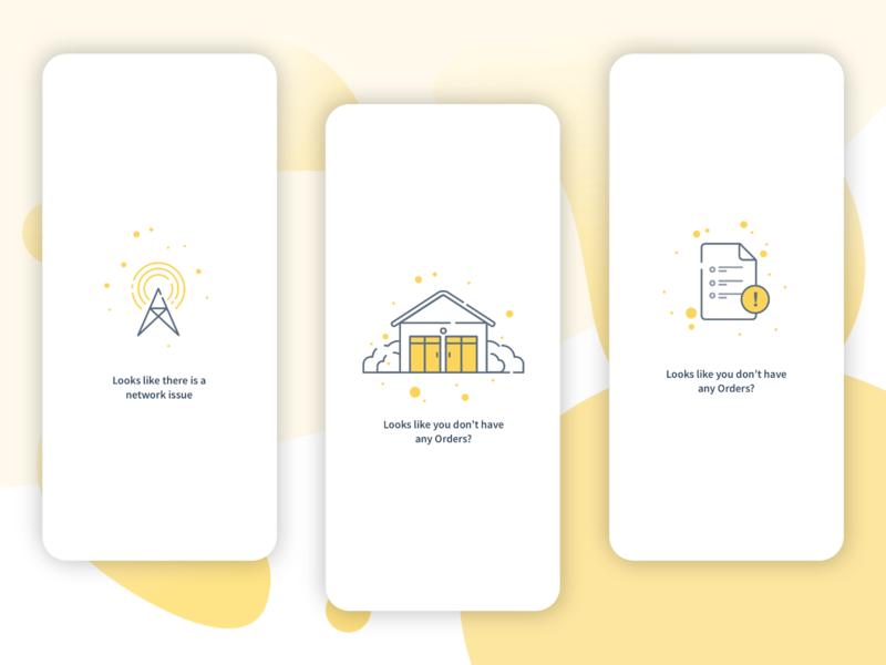 '0' Data States for Mobile App illustration mobile app design zero data state mobile ux