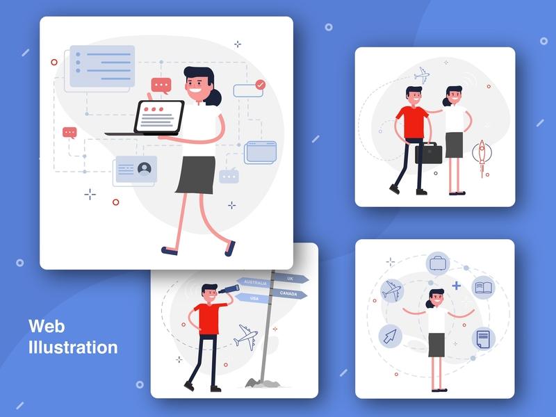 Web illustrations web ux illustration design illustrations