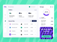 Clo File Manager - Web app concept overview members storage documents golden grid pattern tiger dashboard ui ux application figma files folder cloud file manager saas product design web design arounda