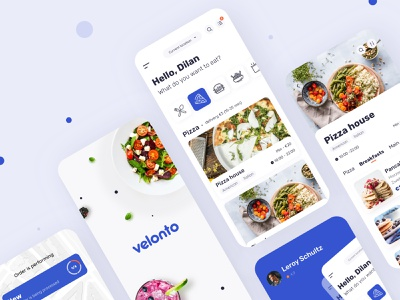 Velonto Food Delivery - Mobile app startup notification tracking payment concept service application restaurant interface search order ui ux figma sketch platform food delivery product design mobile arounda