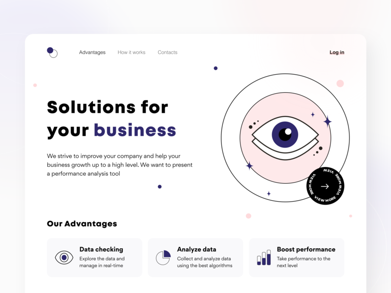 Management tool - Landing page landing solution data illustration notification interface analyze business ui ux figma sketch platform technology dashboard management saas web design statistics arounda