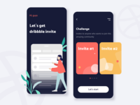 Dribbble invites - Mobile app concept