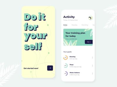 Activity Tracker - Mobile app concept