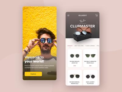 Sunglasses Shop App | UI Challenge #005