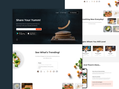 Landing Page for Foodies