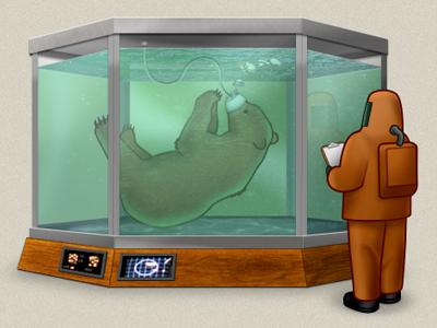 For Science! bear tank experiment hazmat science wood water