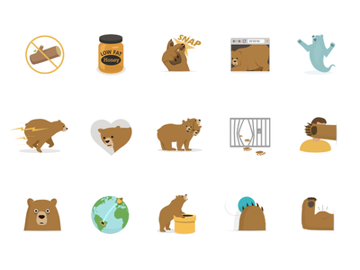 Some More Bears illustration icon bear