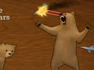 More bears bear laser jets wood