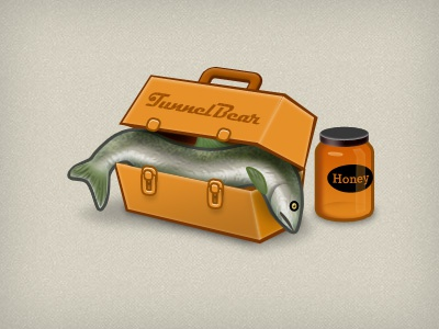 What's for lunch? fish lunch box honey