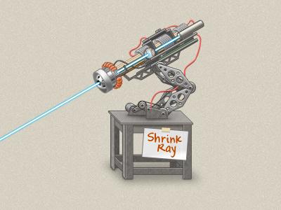 Honey, I... illustration gun laser ray