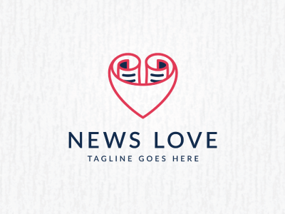 news love logo template by Monica - Dribbble