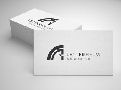 letter helmet logo template