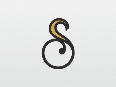 letter s swan logo template jewellry cosmetics wellness spa beauty animal bird goose swan s letter creative modern initial alphabet typography type sale template logo
