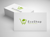 eco shop logo template