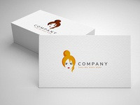 girl logo template