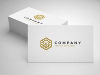 lion cube logo template