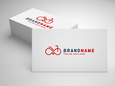 bicycle infinity logo template